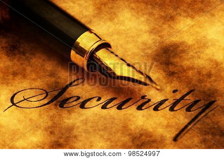 Fountain Pen On Security Text