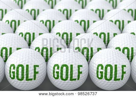 Golf Balls With Text