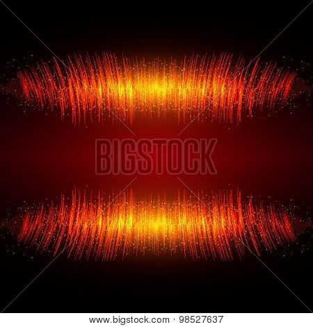 Abstract Shining Equalizer Waveform