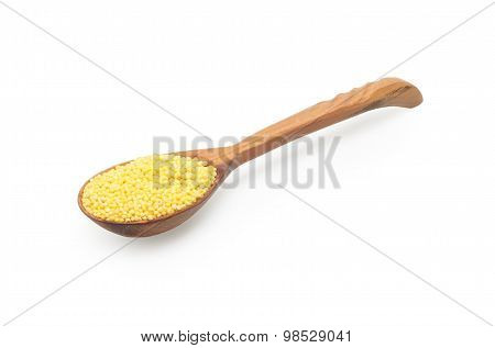 the millet in spoon