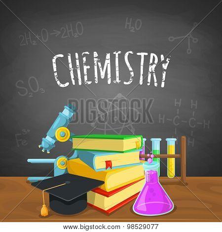 Chemistry backdrop.