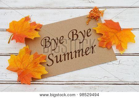 Bye Bye Summer Card
