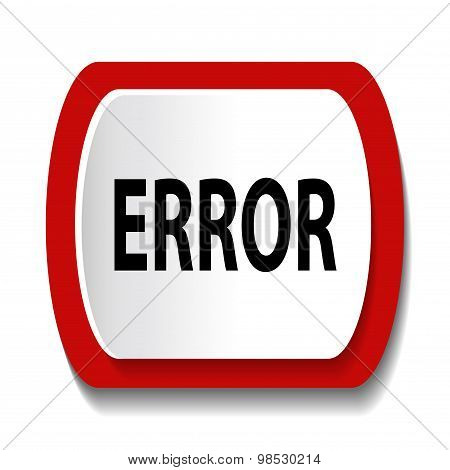 Vector icon with the word ERROR