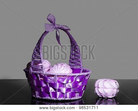 Purple Basket With Berry Zephyr