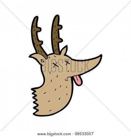 cartoon deer head