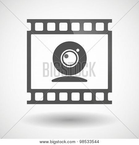 Photographic Film Icon With A Web Cam