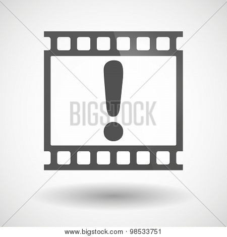 Photographic Film Icon With An Admiration Sign