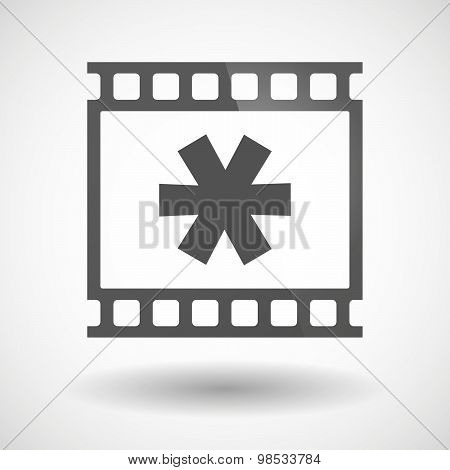 Photographic Film Icon With An Asterisk