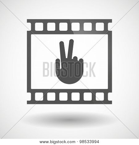 Photographic Film Icon With A Victory Hand