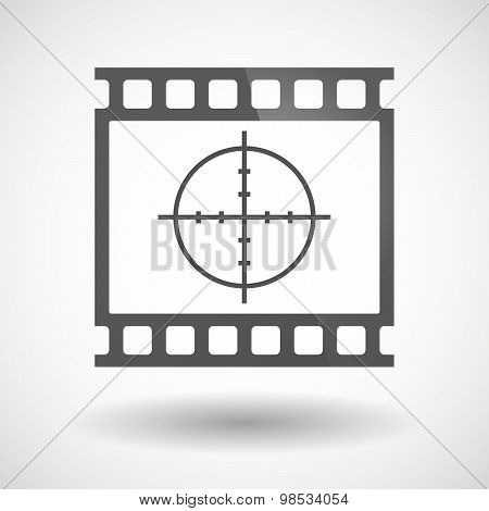 Photographic Film Icon With A Crosshair