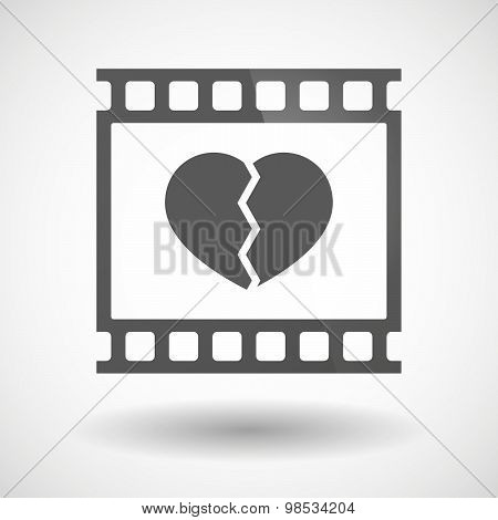 Photographic Film Icon With A Broken Heart