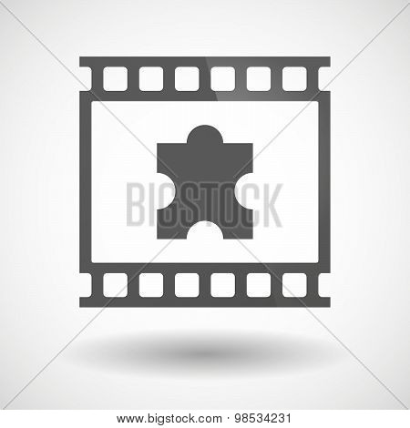Photographic Film Icon With A Puzzle Piece