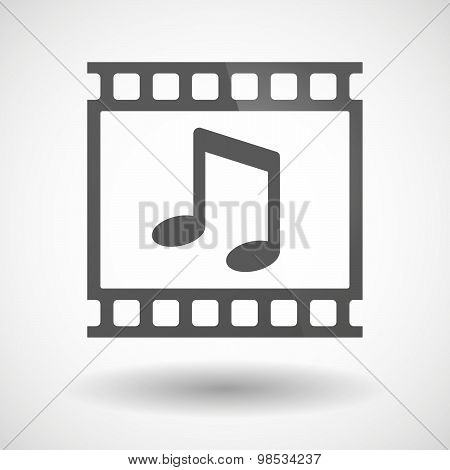 Photographic Film Icon With A Note Music