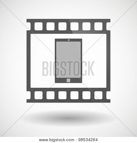Photographic Film Icon With A Smart Phone
