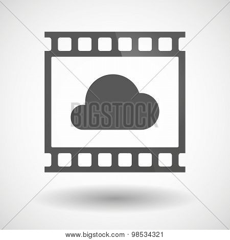 Photographic Film Icon With A Cloud