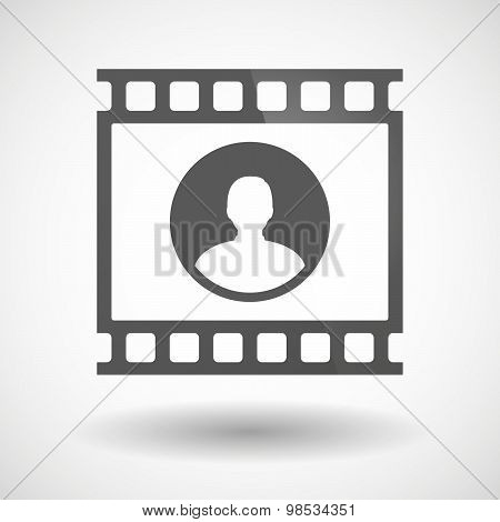 Photographic Film Icon With A Male Avatar
