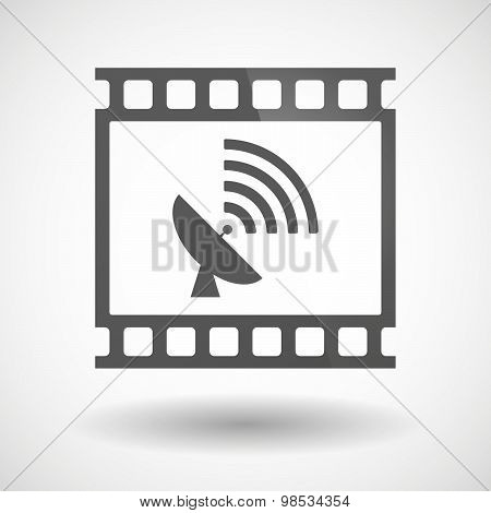 Photographic Film Icon With A Satellite Dish
