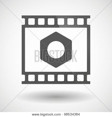 Photographic Film Icon With A Nut