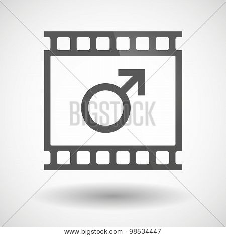Photographic Film Icon With A Male Sign