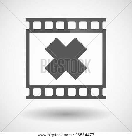Photographic Film Icon With An Irritating Substance Sign