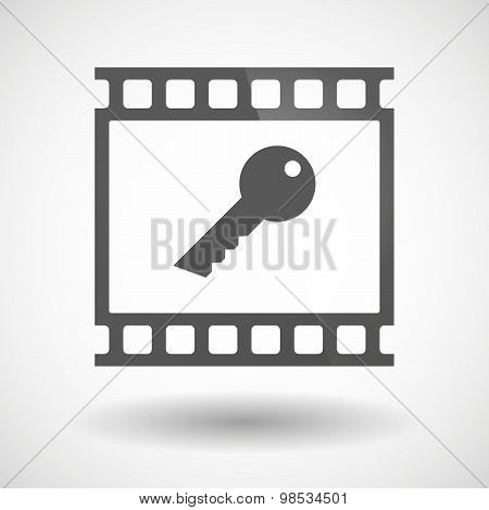 Photographic Film Icon With A Key