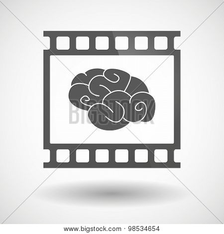 Photographic Film Icon With A Brain