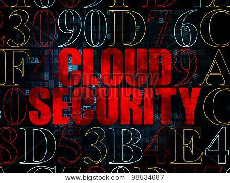 Cloud computing concept: Cloud Security on Digital background