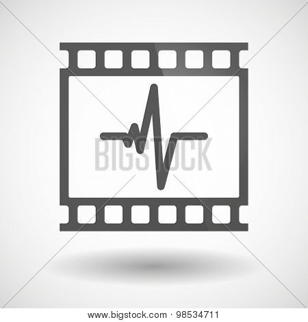 Photographic Film Icon With A Heart Beat Sign