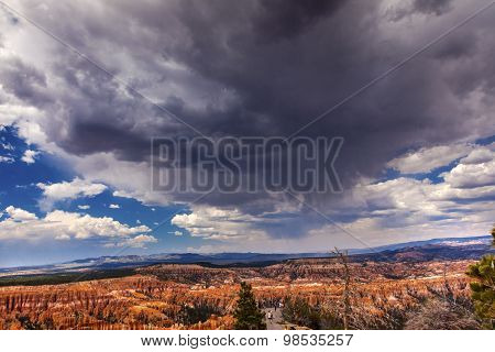 Rain Storm Amphitheater Hoodoos Bryce Point Bryce Canyon National Park Utah