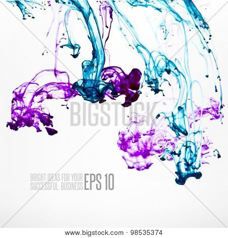 Ink in water abstract background