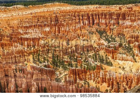 Amphitheater Hoodoos Inspiration Bryce Point Bryce Canyon National Park Utah