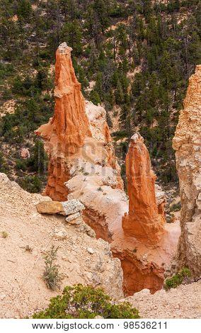 Sharp Pointed Hoodoos Bryce Point Bryce Canyon National Park Utah