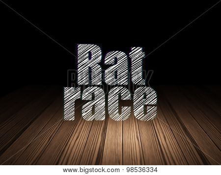 Political concept: Rat Race in grunge dark room