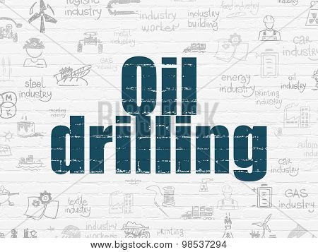 Industry concept: Oil Drilling on wall background