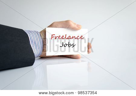 Freelance Jobs Text Concept