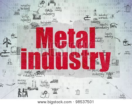 Industry concept: Metal Industry on Digital Paper background