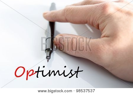 Optimist Text Concept