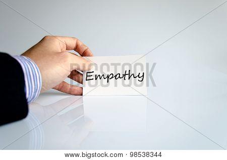 Empathy Text Concept