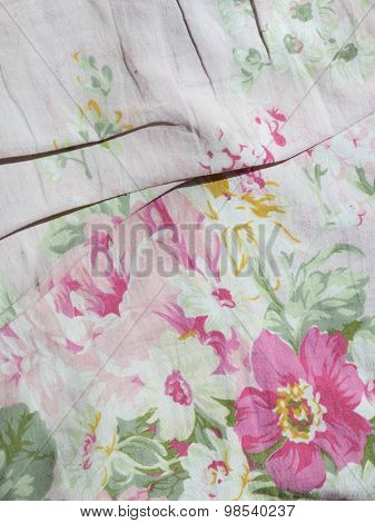 Old Fabric With Flowers