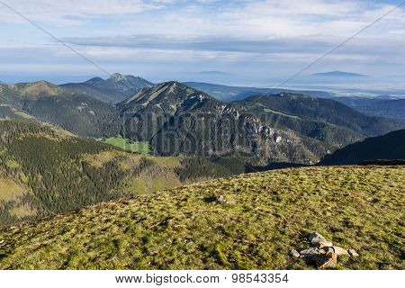 Mountain Range In The Western Tatras