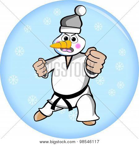 Taekwondo Snowman