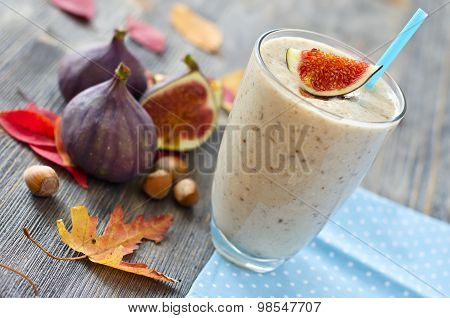 Healthy Exotic Smoothie Variation With Figs And Nuts