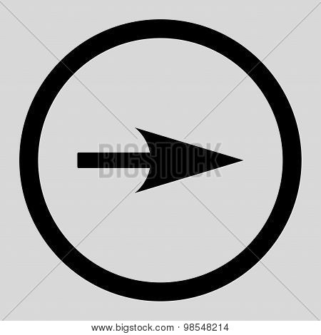 Arrow Axis X flat black color rounded vector icon