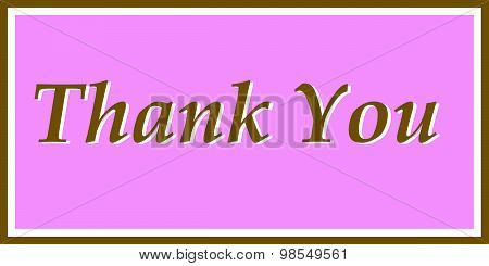 Thank You in Pink and Brown