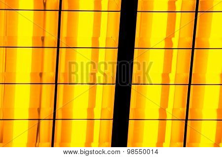 Abstract Yellow Neon Light Bars