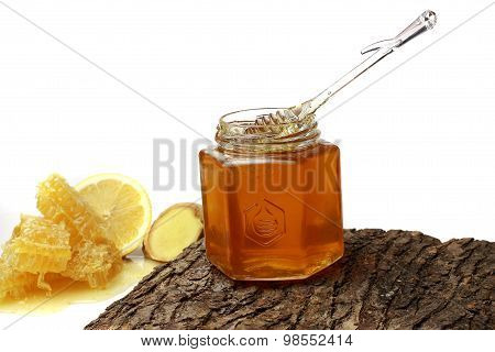 Honey In The Comb , Honey Jar