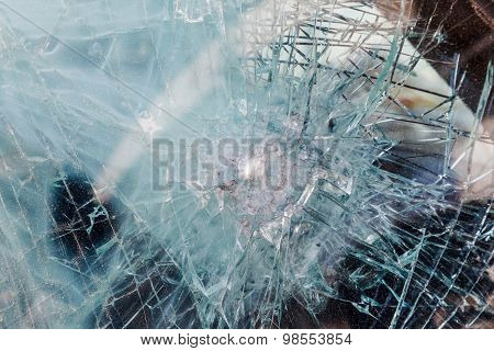 bulletproof glass car after the shooting