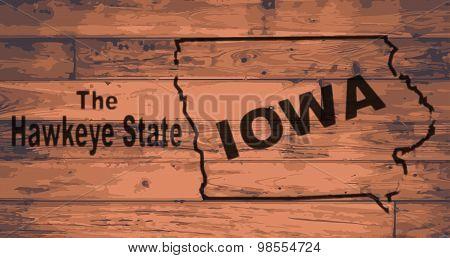 Iowa Map Brand