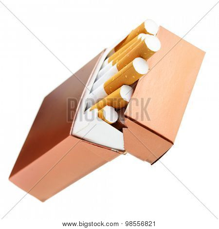 Cigarette box isolated over the white background