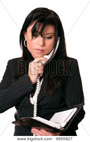 Businesswoman Checking Diary